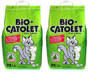 2 X 25 Litre Bio Catolet Litter (100% Recycled Paper) Absorbent Dust Free