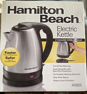 Hamilton Beach Stainless Steel Electric Kettle 7.2 Cups New In Box
