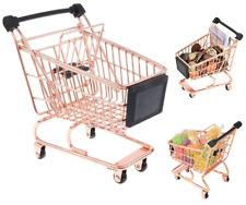Kids Mini Copper Shopping Trolley Desk Tidy Supermarket Kids Role Play Wheel New