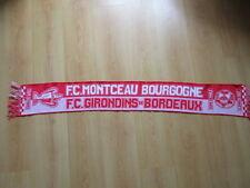 écharpe de football vintage coupe de France 2007 BORDEAUX- FC MONCEAU Rouge Tail