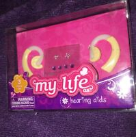 "My Life As Hearing Aids earring sticker sheet fits 18/"" American girl doll 2 Sets"