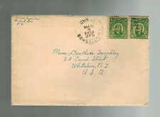 1932 Gubat Philippines Cover to Usa with letter contents