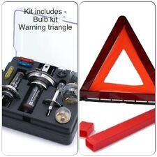 Viajes jurídico Essentials Kit-Coche Bombilla de repuesto / Fusible & desglose advertencia triángulo