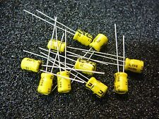 ILLINOIS CAPACITOR 10uF 35V LOW PROFILE ELECTROLYTIC  **NEW** Qty.10