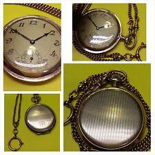 Orologio da tasca dorato con catena per carica manuale AXD goldmagnet Incisione
