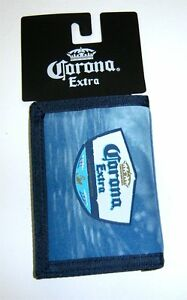 Corona Beer Blue Ocean Print Tri Fold Wallet New NWT Official