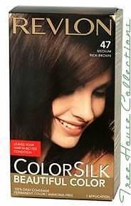 Treehousecollections: Revlon Colorsilk Medium Rich Brown #47 Hair Color