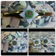 Scots Guards Lapel / Cuff Links / Tie Bar Gift Set (green)