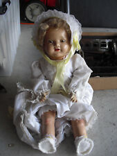 "Vintage 1930s American Character Composition Cloth Girl Doll 19"" Tall"