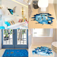 3D Floor/Wall Sticker Removable Mural Decals Vinyl Art Living Room Decors DIY AU
