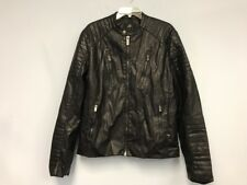 TOP GUN Men's Black Faux Leather Jacket SZ Large