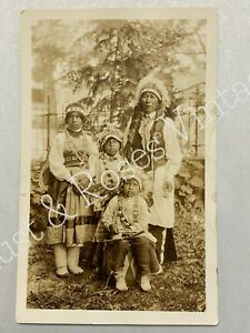 Group of Native Americans Postcard RPPC Real Photo Unposted 1920-1940