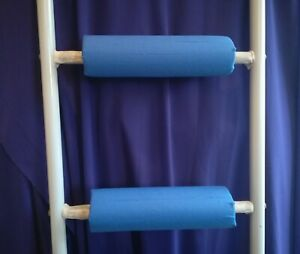 ROYAL BLUE Padded BunkBed Ladder Rung Covers*No-Tool Install*(Safe, Non Slip)