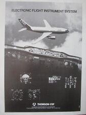 2/82 PUB THOMSON CSF AVIONIC AIRBUS A310 ELECTRONIC FLIGHT INSTRUMENT SYSTEM AD