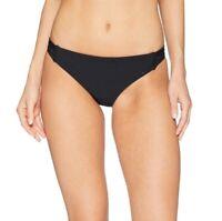Speedo 170258 Womens Turnz Mesh Cheeky Bikini Bottom Swimwear Black Size Medium