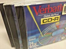 Lot of 3 Verbatim CD-R 74 Minutes 650MB New in Package (NIP)