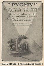 Z2299 PYGMY la nuova lampadina tascabile - Pubblicità 1928 - Vintage advertising