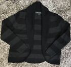 Laura Ashley Cardigan Size large Pure Wool Black Grey As New
