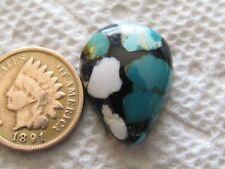 White Buffalo & Pilot Mountain Turquoise 14 carats Cabochon Inlay Cab