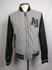 Armani Jeans Mens sz L 52 varsity Patch athletic sport jacket Windbreaker Track