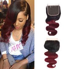1Pcs (1b 99j) 4*4 Lace Closure Free Part Body Wave Brazilian Virgin Human Hair
