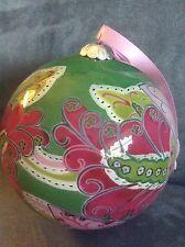 Vera Bradley Glass Ornament Pinwheel Pink - Rare - Brand New In Box