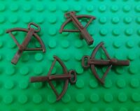 *NEW* Lego Brown Crossbows for Castle Star Wars Mini Figures Men Figs 4 pieces