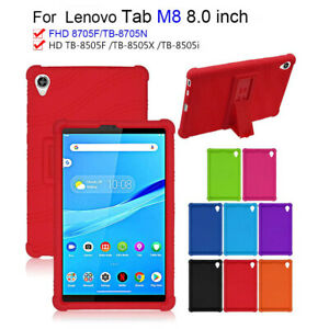 For Lenovo Tab M8 TB-8505X/F 8705F/N Tablet Silicone Case Cover Screen Protector