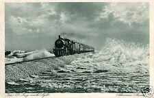 13134/ Foto AK, Mit dem D-ZUg nach Sylt, Schwerer Sturm, Nachsendung, 1928