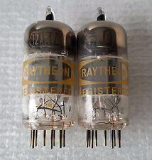 Pair Vintage Raytheon 12ax7 / ECC83 Vacuum Tubes : H-06 / Japan