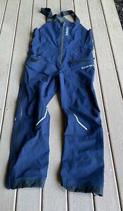SIMMS  FISHING RAIN BIBS L BLUE Large