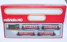 Marklin AC HO German DR V36 DIESEL LOCOMOTIVE + 4x REGIONAL WAGON Gift Set MIB!