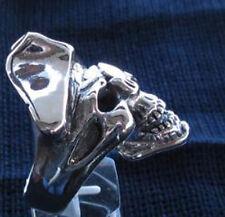 Stainless Pirate Skull Biker Ring custom size Buccaneer Sailor handmade R-6ss