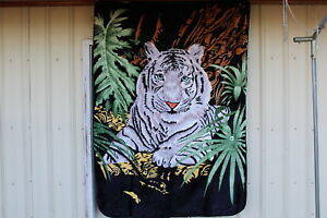 WHITE TIGER JUNGLE CAT ANIMAL TWIN SIZE BLANKET