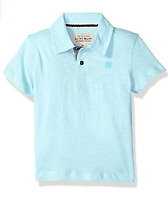 Lucky Brand Boys' Short Sleeve Solid Polo 3T Washed Plume *