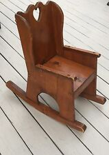 Vintage Handmade Child's Pine Rocking Chair