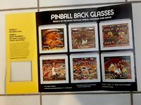 EXCITING PINBALL ART- LIMITED EDITION OF SIX PINBALL BACK GLASSES-4 PG FOLD OUT