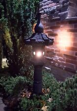 Japanlampe mit LED Beleuchtung Lavastein japanische Laterne / Lampe KASUGA