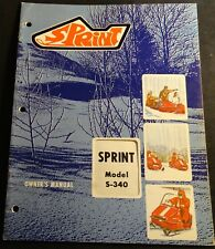 VINTAGE 1970 BOLENS SPRINT SNOWMOBILE OWNERS MANUAL S-340 (712)