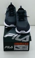 Men's Black Fila Memory Foam Sneakers New With Box US Mens Size 10.5