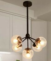 Warehouse Of Tiffany Enthen 5-Light Orb Black Chandelier CY-DD-309-5