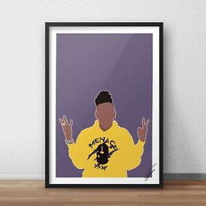 YNW Melly INSPIRED WALL ART Print / Poster Minimal A4 A3 Mixed Personalities rap