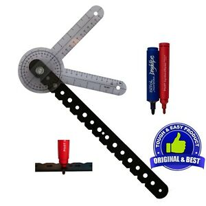 Whiteboard Compass & Protractor-Draw Circles-Measure Angles-Fixes with Sucker