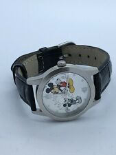 Disney Castle Mickey Mouse Quartz Watch Leather Band 45mm (73)