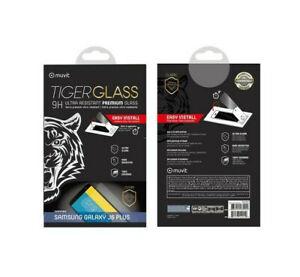 SAMSUNG GALAXY J6 PLUS + VITRE VERRE TREMPE TIGER GLASS 9H Muvit Premium