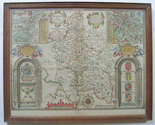 Buckinghamshire: antique map by John Speed, 1646