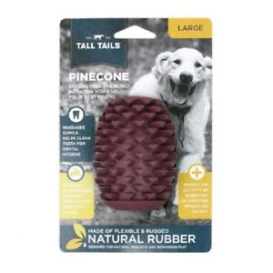 """Tall Tails 4"""" FLEXIBLE NATURAL RUBBER PINECONE Dog Toy"""