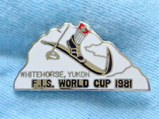 1981 FIS WORLD CUP Skiing PIN badge WHITEHORSE Yukon CANADA
