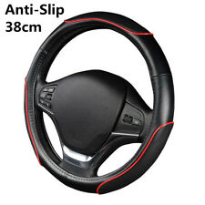 38cm Universal Car Steering Wheel Cover Protector Red Line Wave Style 4Seasons