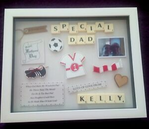 FATHERS DAY Personalised FOOTBALL GIFT Picture Frame Keepsake DAD GRANDAD DADDY